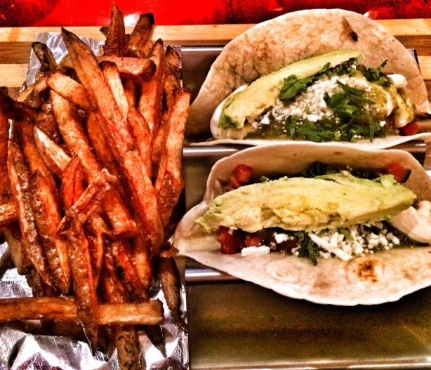 Chicken Tacos and Fries