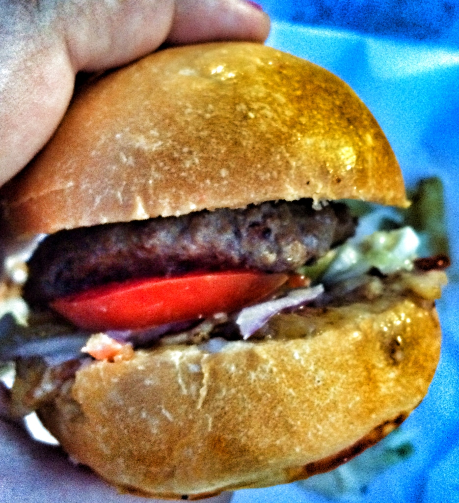 Bacon Blue Cheese Slider