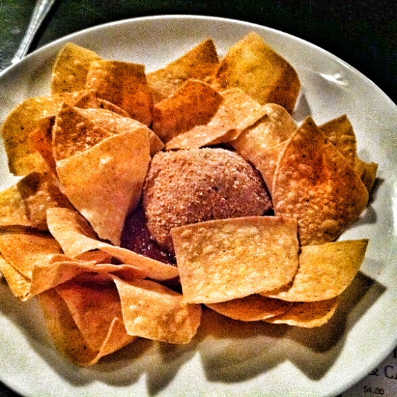 Fried Guacamole and Chips