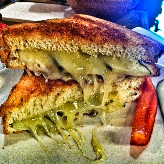 Bread and Butter Pickle Grilled Cheese