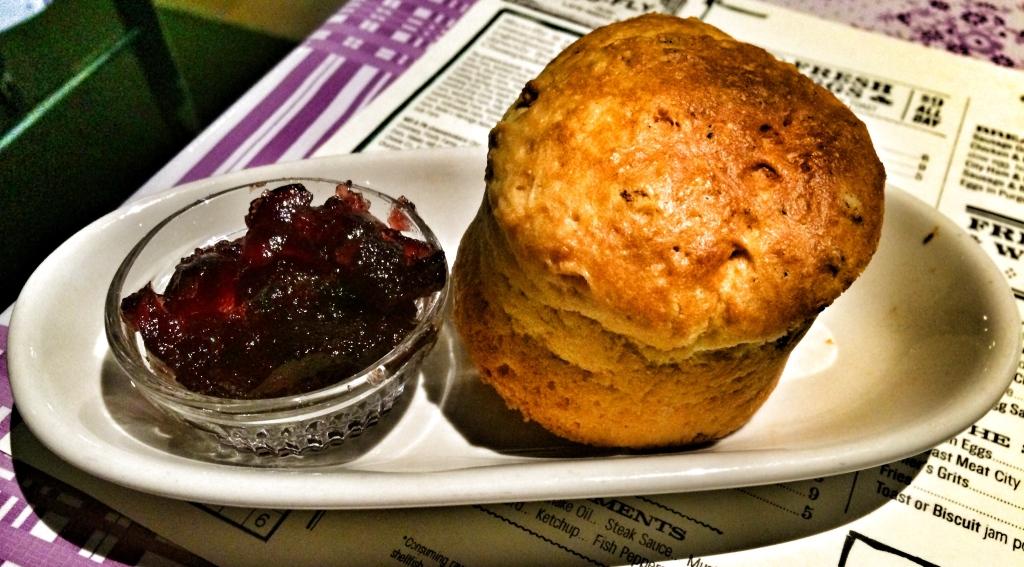 Jam Pot & Biscuit