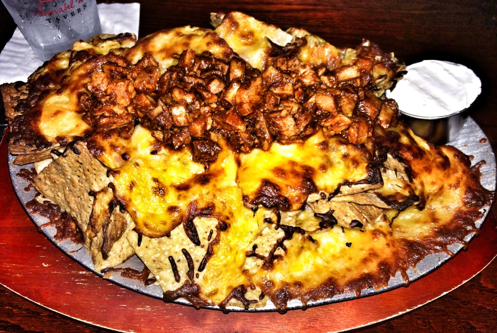 BBQ Chicken and Applewood Smoked Bacon Nachos