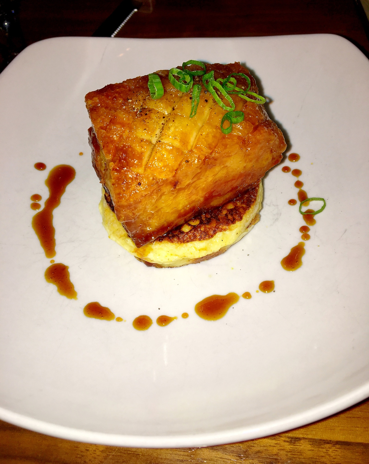 Honey Bourbon Glazed Pork Belly