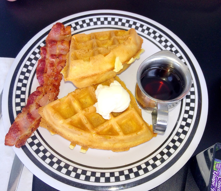 Golden Malted Waffle