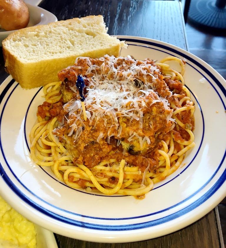 Classic Meatballs over Spaghetti