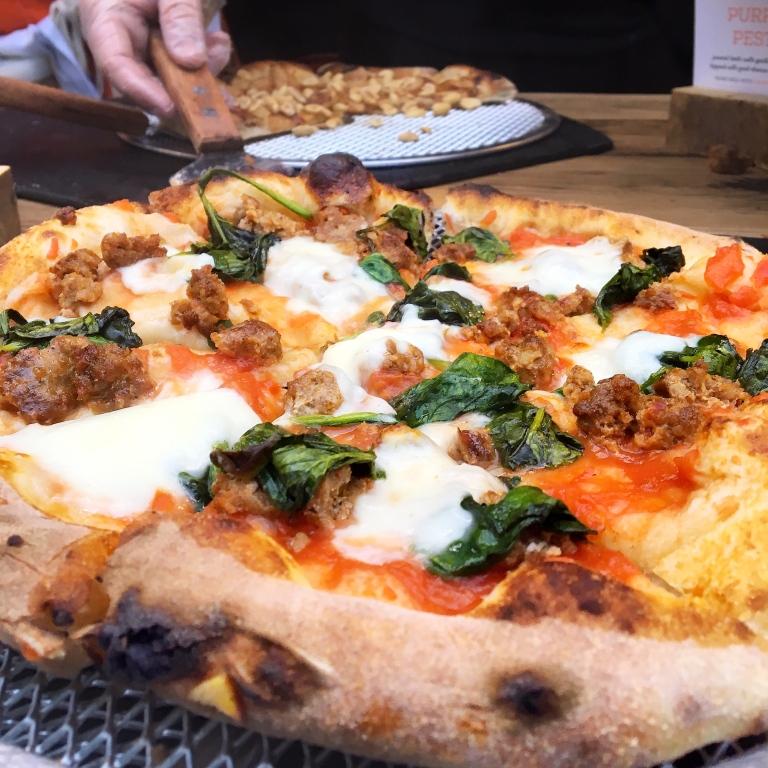 Chorizo & Spinach Pizza