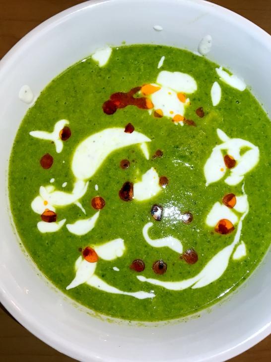 Creamy Broccoli White Bean Soup with Garlicky Yogurt